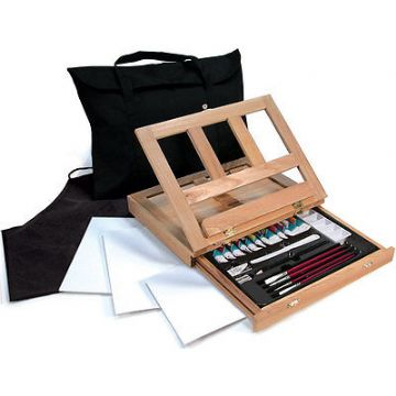 ARTISTS WATERCOLOR EASEL ART SET WITH EASY TO STORE BAG BY ROYAL & LANGNICKEL